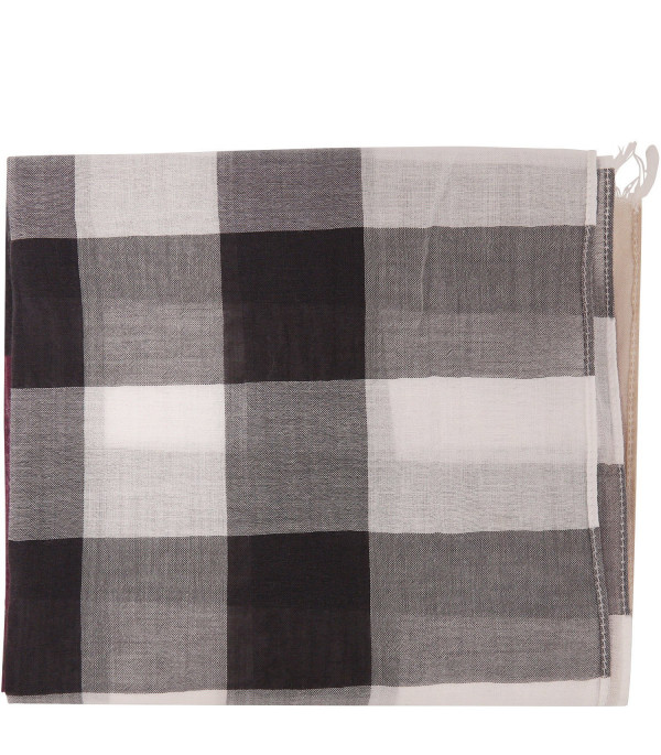 BURBERRY KIDS Scarf with check