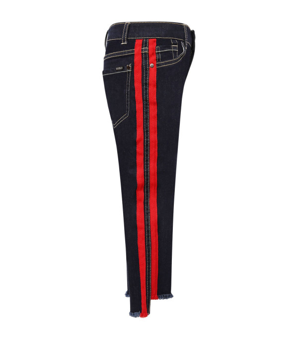 IT'S IN MY JEANS Blue Emily jeans with red striped