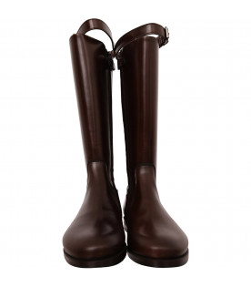 GALLUCCI KIDS Brown riding boot