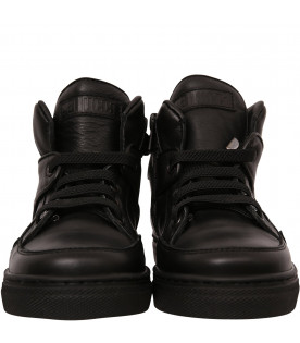 GALLUCCI KIDS Black high sneaker