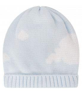 Light blue hat with clouds