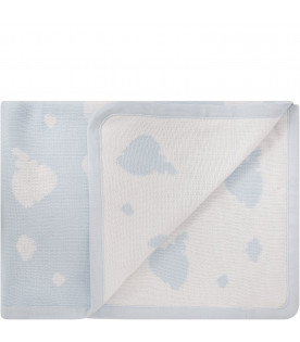 LITTLE BEAR Light blue blanket