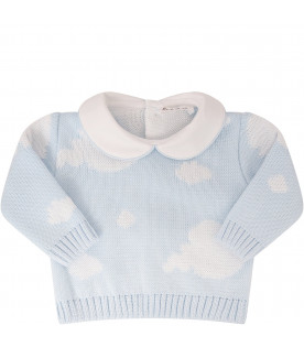 LITTLE BEAR Ligth blue suit with white clouds