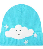 Pabllo De La Cruz Light blue hat with cloud and stars