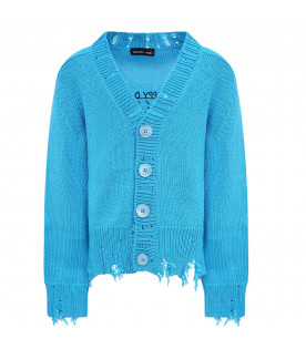 "Light blue ""happy day"" cardigan for kid"