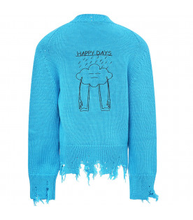 "Light blue ""happy day"" cardigan"