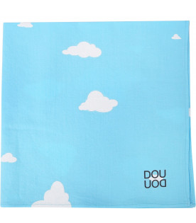 Light blue kerchief with white clouds