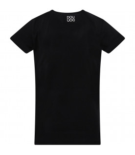 Black T-shirt with white cloud
