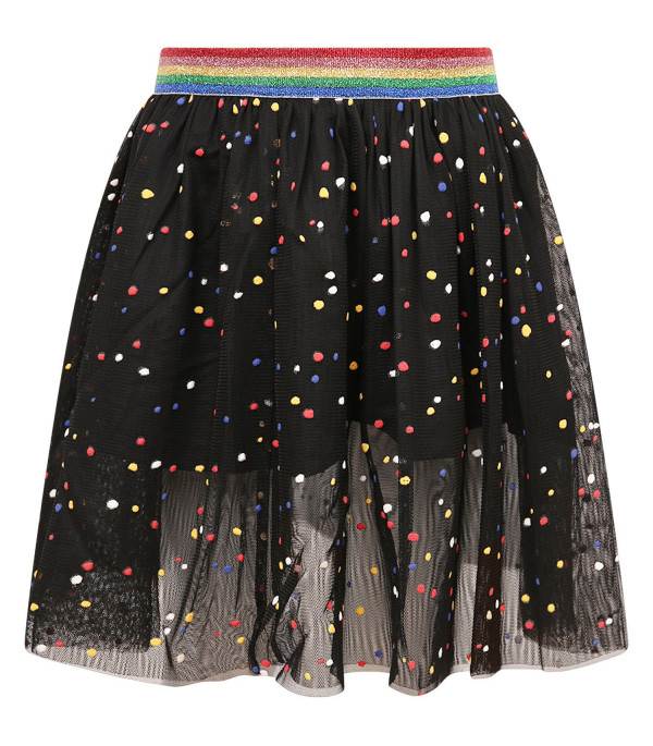 STELLA MCCARTNEY KIDS Gonna bambina nera con pois colorati