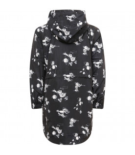 STELLA MCCARTNEY KIDS Black boy para with all-over print