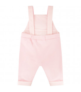 FENDI KIDS Pink overall with colorful mushroom