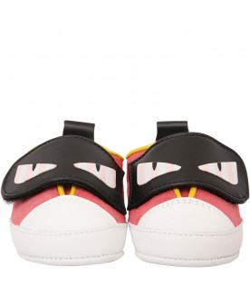 FENDI KIDS Pink shoes with eyes