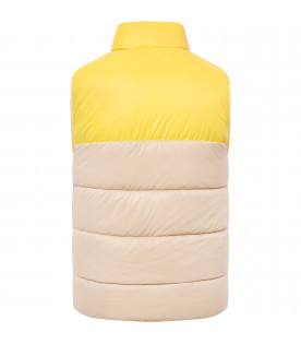 FENDI KIDS Beige and yellow vest with patches