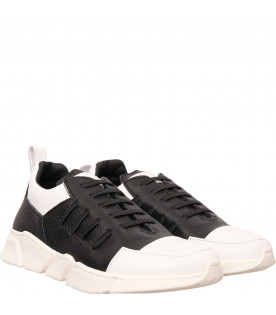 GALLUCCI KIDS Black and white sneaker
