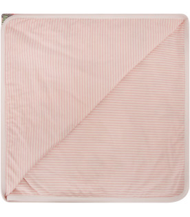 FENDI KIDS Pink padded blanket with prints