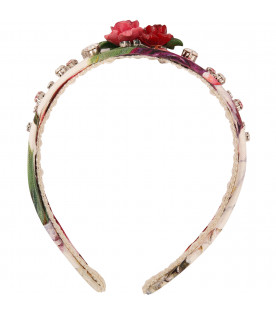 DOLCE & GABBANA KIDS White hairband with roses