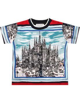 "DOLCE & GABBANA KIDS ""Colorful boy T-shirt with print"