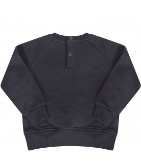 MSGM KIDS Blue sweatshirt with black logo