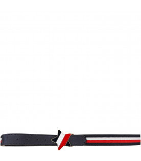TOMMY HILFIGER JUNIOR Blue, white and red striped belt