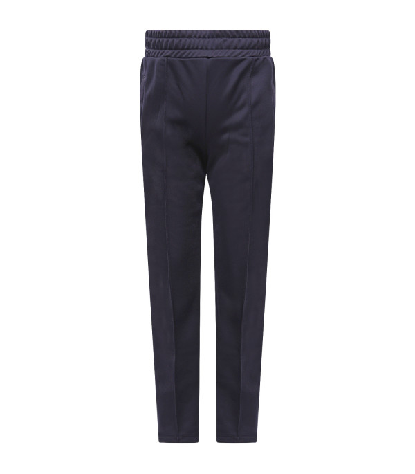 MSGM KIDS Blue girl pants with white side stripes