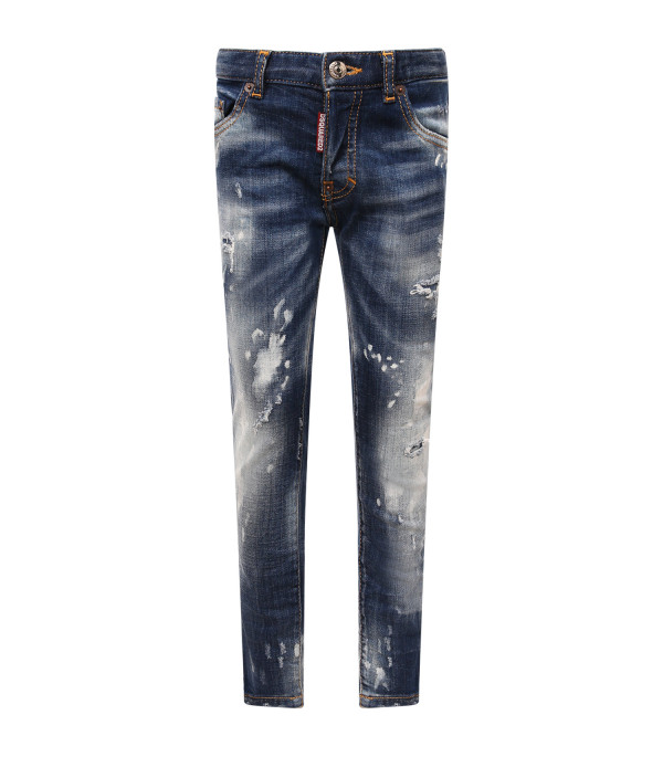 DSQUARED2 Blue boy jeans with white spots