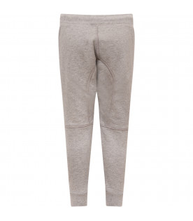 DSQUARED2 Grey boy trousers with black logo