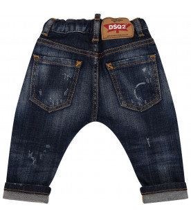 DSQUARED2 Blue boy jeans with ripped holes