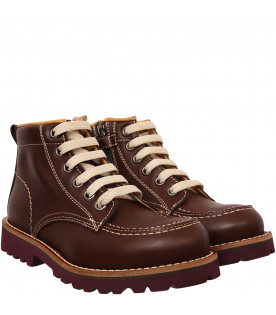 GALLUCCI KIDS Brown ankle boot