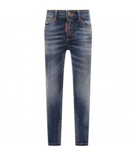 DSQUARED2 Blue girl jeans with white logo