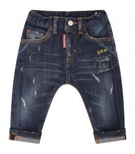 DSQUARED2 Jeans blu con patch
