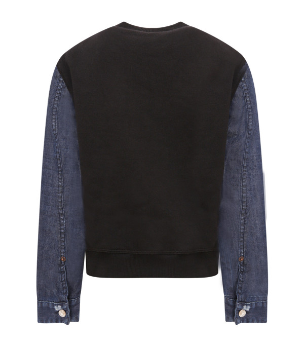 DSQUARED2 Black boy sweatshirt with brow pocket