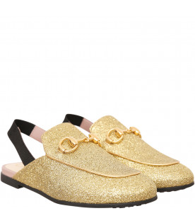 GUCCI KIDS Slipper dorate
