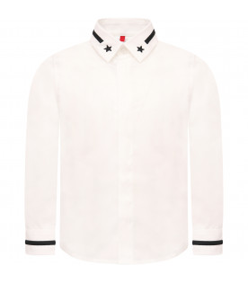 GIVENCHY KIDS White boy shirt with stars