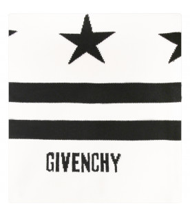 GIVENCHY KIDS Ivory blanket with black logo