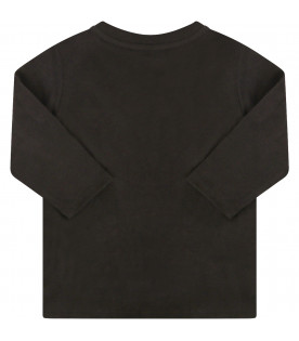 GIVENCHY KIDS Black t-shirt with white logo