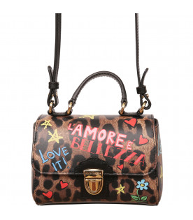 DOLCE & GABBANA KIDS Spotted bag with colorful prints