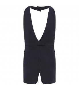 CHLOÉ KIDS Blue girl dungaress