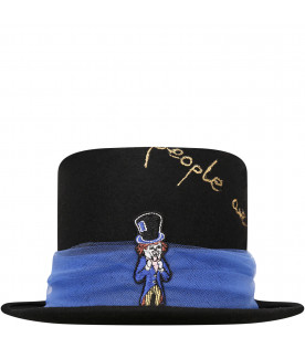 EFVVA Black mad hat