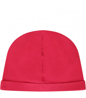 MOSCHINO KIDS Cappello fucsia con Teddy Bear