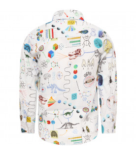 PAUL SMITH JUNIOR White boy shirt with colorful print