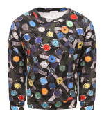 Paul Smith Junior Black boy sweatshirt with colorful watches
