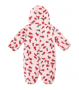 STELLA MCCARTNEY KIDS Pink overall with red and black ladybugs