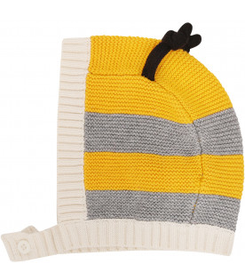 STELLA MCCARTNEY KIDS Yellow and grey set with drawing of bee