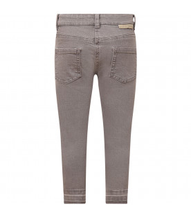 STELLA MCCARTNEY KIDS Grey girl jeans with rips