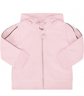 GIVENCHY KIDS Pink tracksuit with pink logo