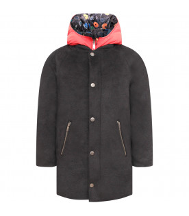 Black and red boy jacket with overcoat and gilet