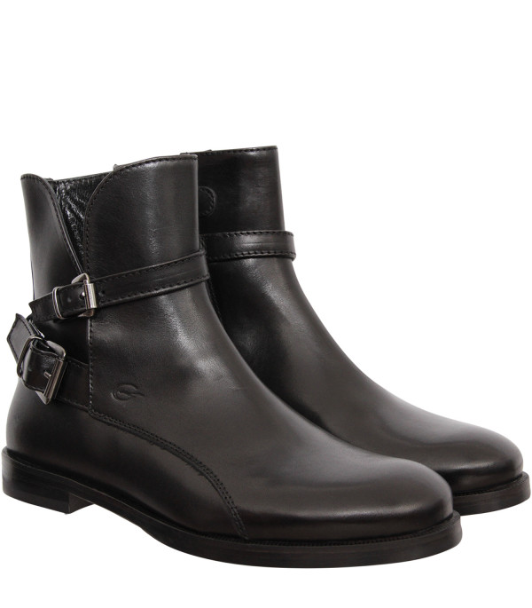 GALLUCCI KIDS Black boots with silver buckles