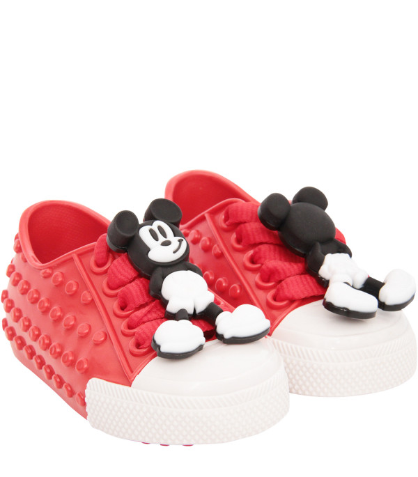 MINI MELISSA Red shoes with Micky Mouse