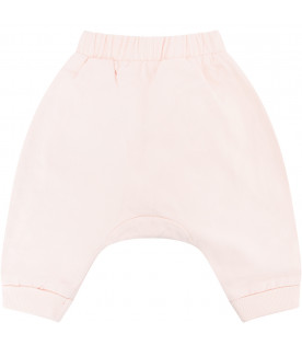 KENZO KIDS Pink sweatpant with white tigers