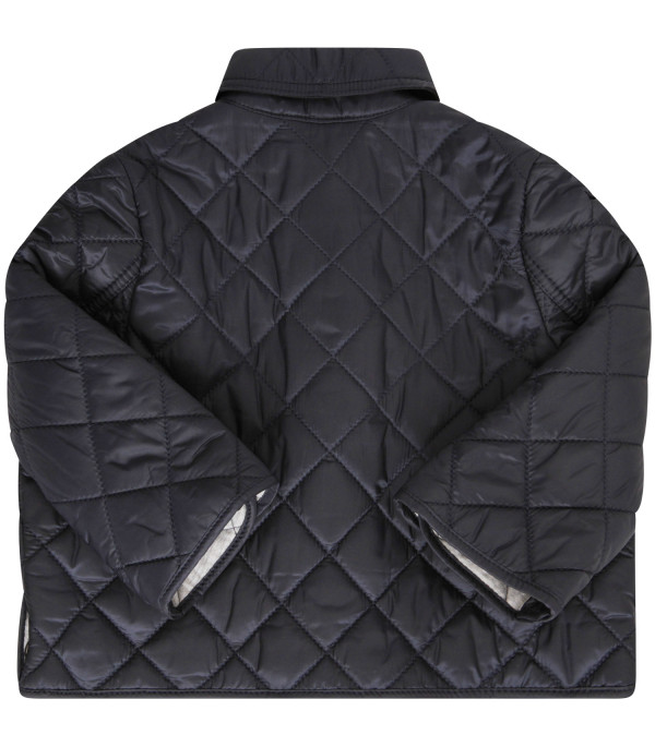 BURBERRY KIDS Blue quilted jacket